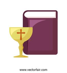chalice sacred with holy bible