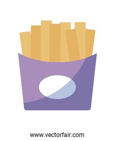 french fries fast food isolated icon