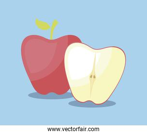 apples fruits healthy icons