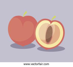 peaches fruits healthy icons