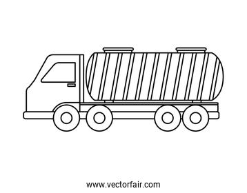 tanker truck vehicle isolated icon