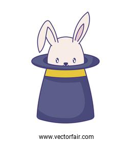 wizard top hat with cute rabbit