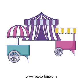 carnival kiosks with circus tent