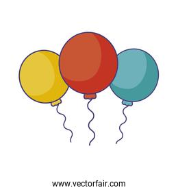 balloons air helium isolated icon