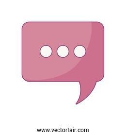 speech bubble in rectangle shape isolated icon