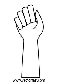 hand human fist isolated icon