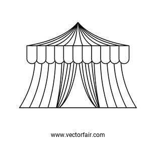 circus tent carnival isolated icon