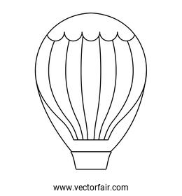balloon air hot isolated icon