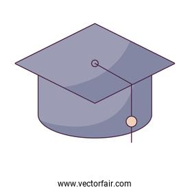 hat graduation traditional isolated icon