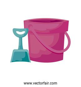 shovel and bucket toy isolated icon