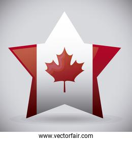 flag of canada in star shape