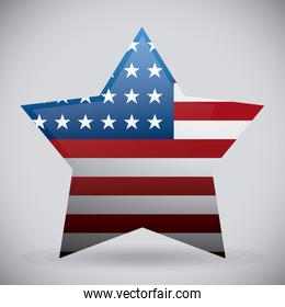 star with united states flag