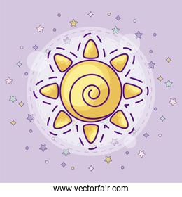 patch of hot sun icon