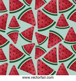 pattern tropical of watermelons sliced