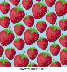 pattern of strawberries healthy fruits