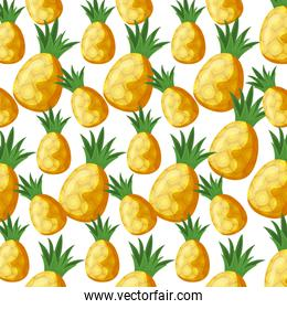 pattern of pineapples fruits fresh