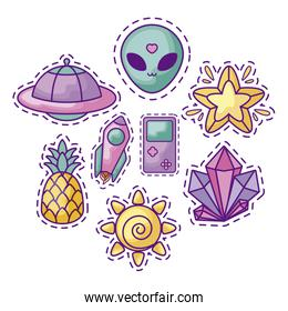 patch of unidentified flying object and set patches