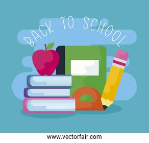 back to school with books and supplies education