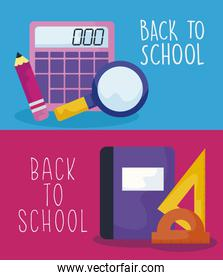 back to school with set supplies education