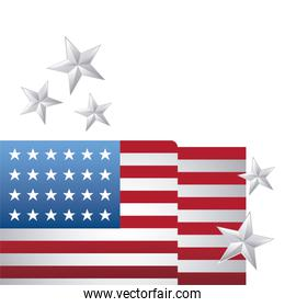 united state of american flag with stars decoration