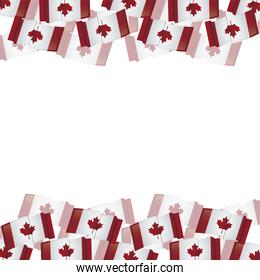frame with flags of canada