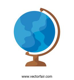 terrestrial globe education isolated icon