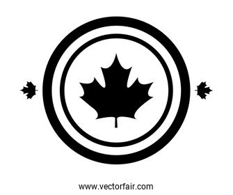 maple leaf canada in shape circle