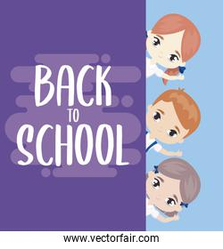 back to school with little students