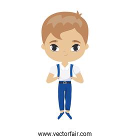 cute little student boy avatar character