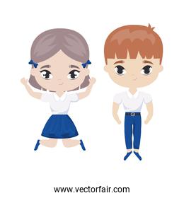 cute little students avatar character