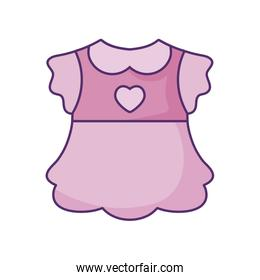 dress baby for girl isolated icon