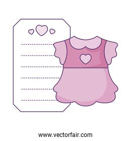 dress baby for girl with card