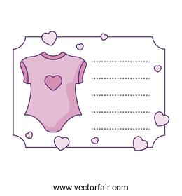 clothes baby for girl with card