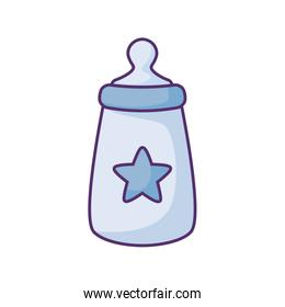 bottle milk baby with star isolated icon