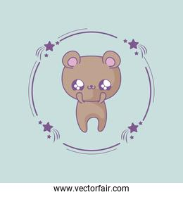 cute bear baby animal kawaii style