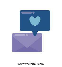 envelope mail with speech bubble