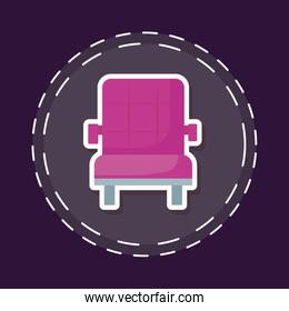 patch of cinema movie sofa isolated icon