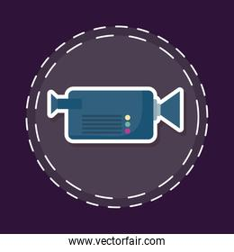 patch of cinema video camera isolated icon