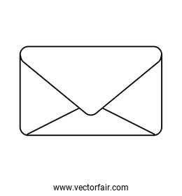 envelope mail communication closed linear icon