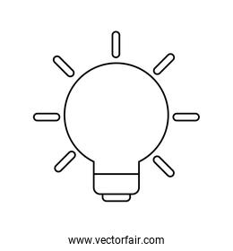 light bulb invention isolated icon