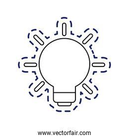 patch of light bulb invention isolated icon