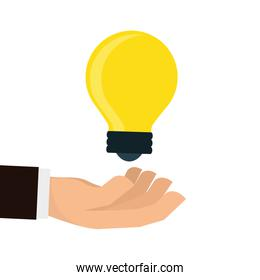 light bulb icon design, vector illustration, vector illustration