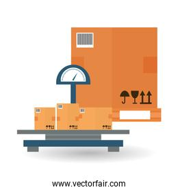Delivery and box design, vector illustration