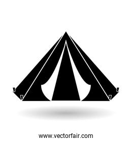 Military tent design , vector illustration