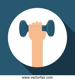 fitness and gym design, vector illustration