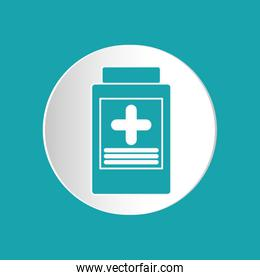 medicine jar design , vector illustration