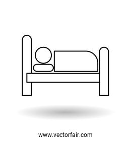 Hotel vector illustration , vector icon