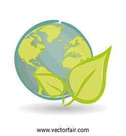 Vector illustration of Think green , editable icon