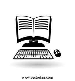 Vector illustration of Online training , editable icon