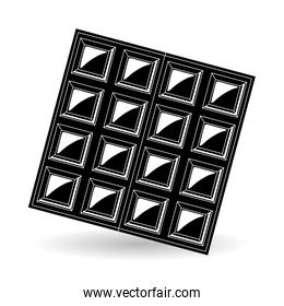 Chocolate design over white background, vector illustration
